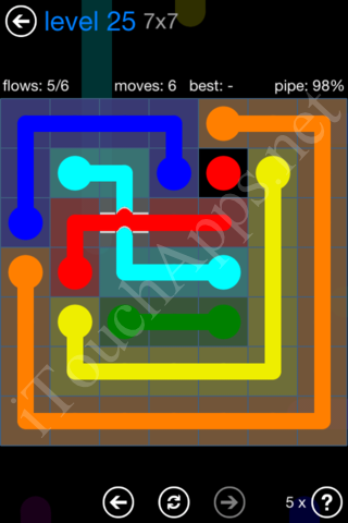 Flow Bridges Challenge Pack 7x7 Level 25 Solution