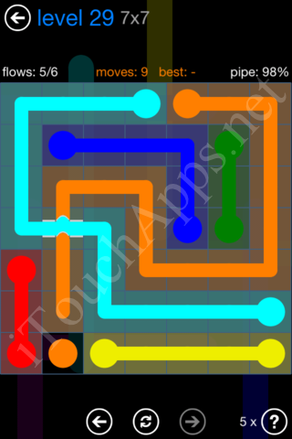 Flow Bridges Challenge Pack 7x7 Level 29 Solution