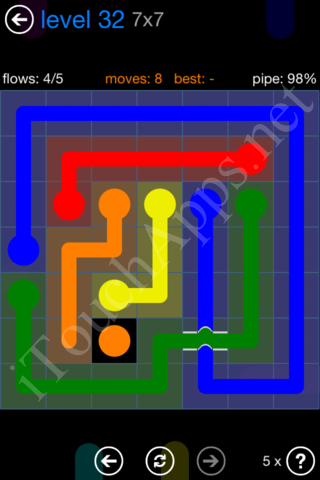 Flow Bridges Challenge Pack 7x7 Level 32 Solution