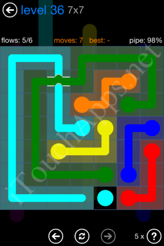 Flow Bridges Challenge Pack 7x7 Level 36 Solution