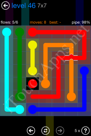 Flow Bridges Challenge Pack 7x7 Level 46 Solution