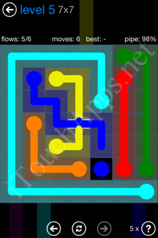 Flow Bridges Challenge Pack 7x7 Level 5 Solution