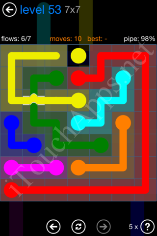 Flow Bridges Challenge Pack 7x7 Level 53 Solution