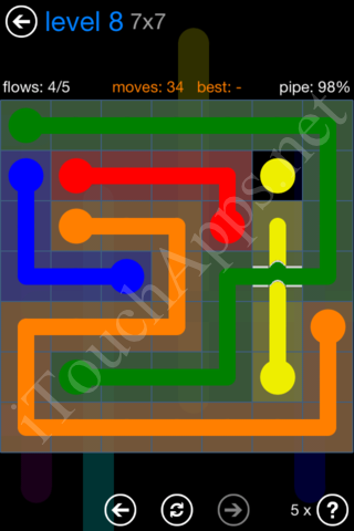 Flow Bridges Challenge Pack 7x7 Level 8 Solution