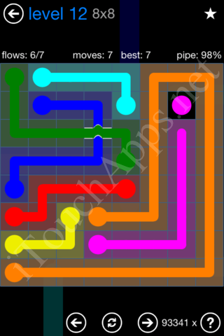 Flow Bridges Challenge Pack 8x8 Level 12 Solution