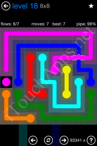 Flow Bridges Challenge Pack 8x8 Level 18 Solution
