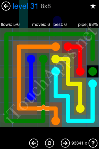 Flow Bridges Challenge Pack 8x8 Level 31 Solution
