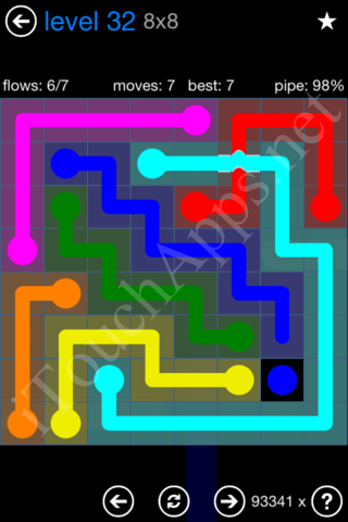 Flow Bridges Challenge Pack 8x8 Level 32 Solution
