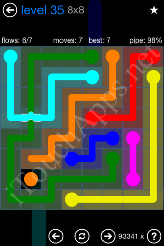 Flow Bridges Challenge Pack 8x8 Level 35 Solution