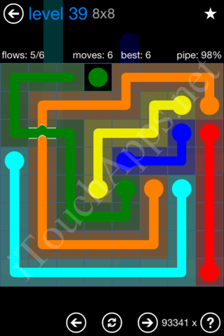 Flow Bridges Challenge Pack 8x8 Level 39 Solution