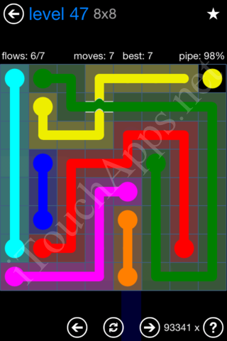 Flow Bridges Challenge Pack 8x8 Level 47 Solution