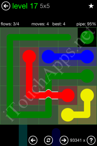 Flow Bridges Classic Pack 5x5 Level 17 Solution