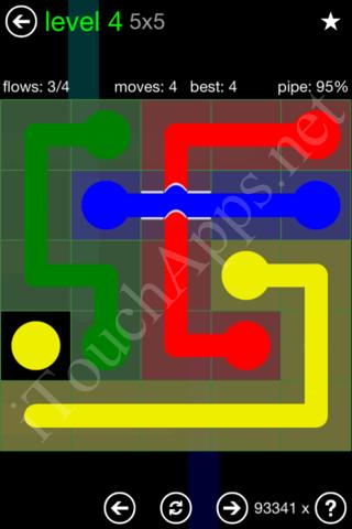 Flow Bridges Classic Pack 5x5 Level 4 Solution
