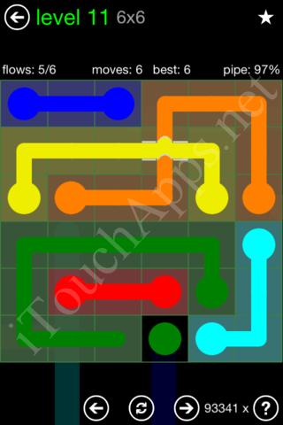 Flow Bridges Classic Pack 6x6 Level 11 Solution