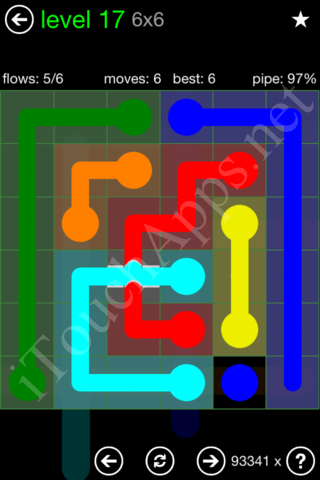 Flow Bridges Classic Pack 6x6 Level 17 Solution
