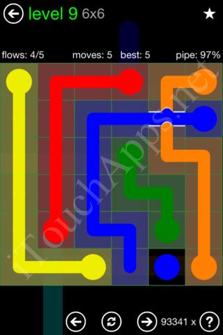 Flow Bridges Classic Pack 6x6 Level 9 Solution