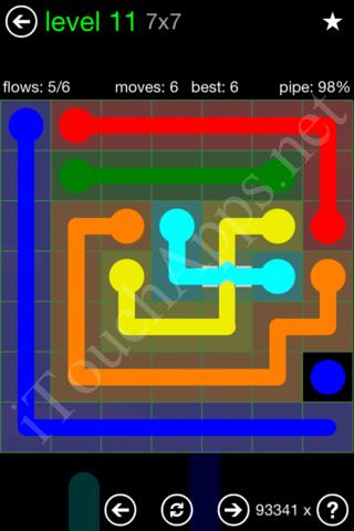 Flow Bridges Classic Pack 7x7 Level 11 Solution