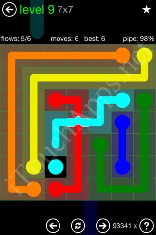 Flow Bridges Classic Pack 7x7 Level 9 Solution