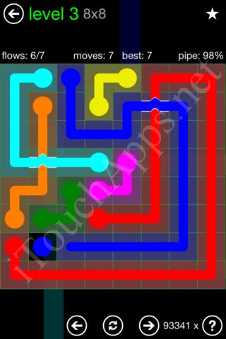 Flow Bridges Classic Pack 8x8 Level 3 Solution
