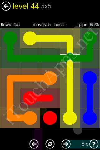 Flow Bridges Starter Pack 5x5 Level 44 Solution