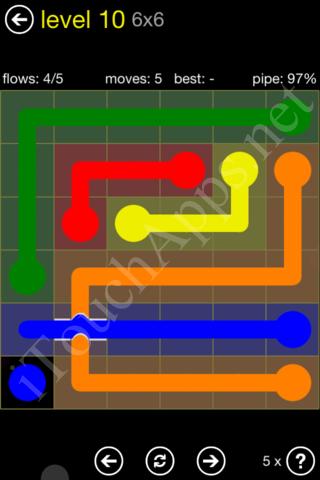 Flow Bridges Starter Pack 6x6 Level 10 Solution