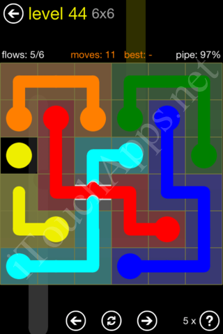 Flow Bridges Starter Pack 6x6 Level 44 Solution