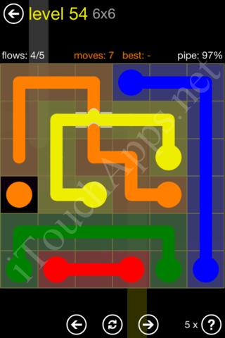 Flow Bridges Starter Pack 6x6 Level 54 Solution