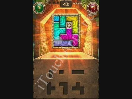 Montezuma Puzzle Level 42 Solution