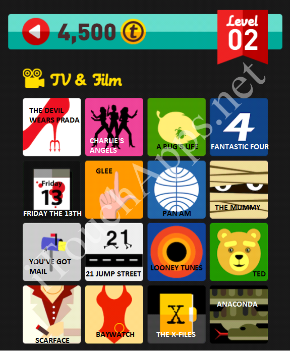 Icon Pop Quiz TV & Film Quiz Level 2 Part 2 Answers / Solutions