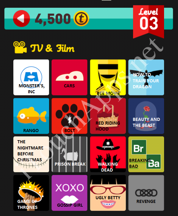Icon Pop Quiz TV & Film Quiz Level 3 Part 1 Answers / Solutions