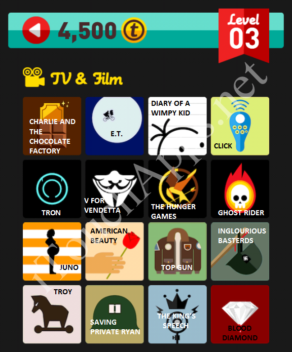 Icon Pop Quiz TV & Film Quiz Level 3 Part 2 Answers / Solutions