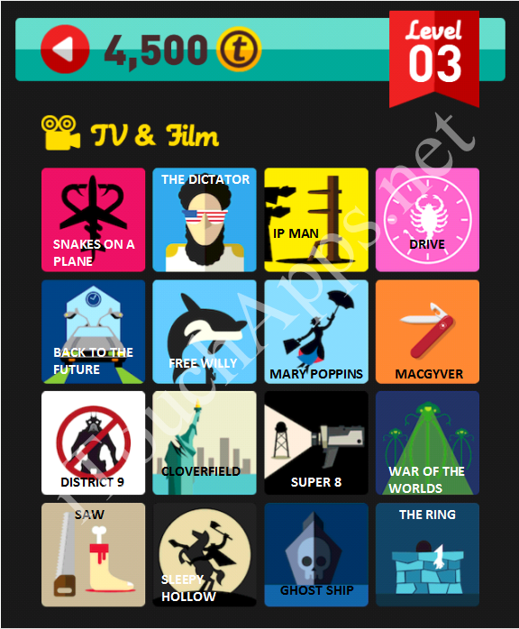 Icon Pop Quiz TV & Film Quiz Level 3 Part 3 Answers / Solutions