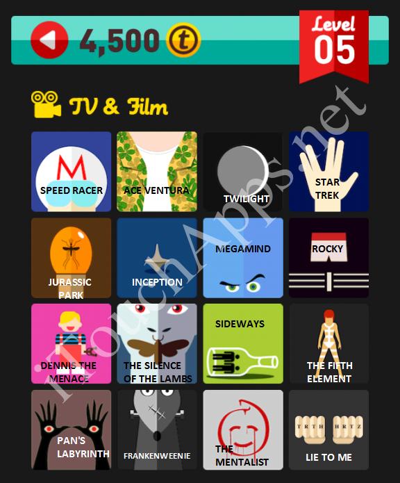 Icon Pop Quiz TV & Film Quiz Level 5 Part 1 Answers / Solutions