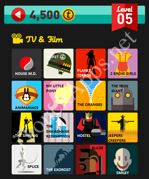 Icon Pop Quiz TV & Film Quiz Level 5 Part 2 Answers / Solutions