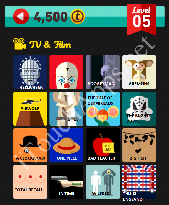 Icon Pop Quiz TV & Film Quiz Level 5 Part 3 Answers / Solutions