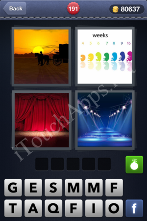 4 Pics 1 Word Level 191 Solution