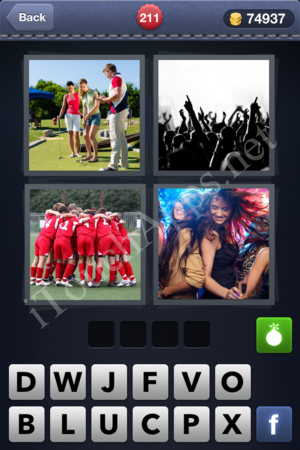 4 Pics 1 Word Level 211 Solution