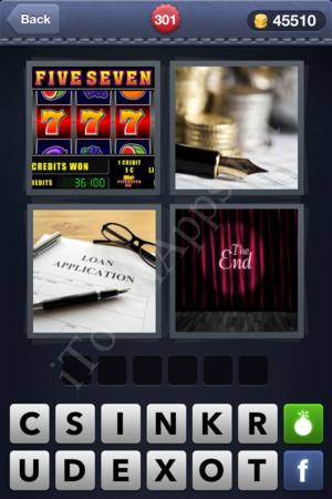 4 Pics 1 Word Level 301 Solution