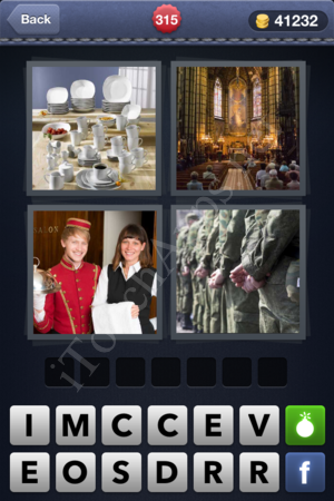 4 Pics 1 Word Level 315 Solution
