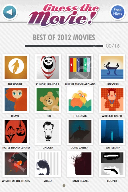 guess the movie best of 2012 movies answers / solutions / cheat