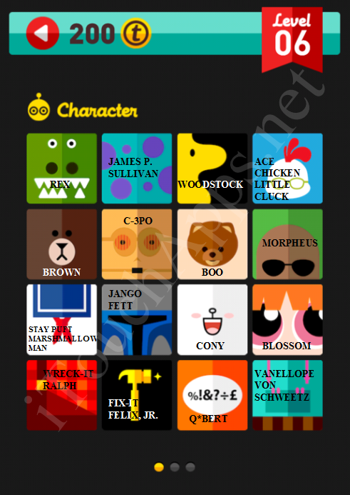 Icon Pop Quiz Character Quiz Level 6 Part 1 Answers / Solutions