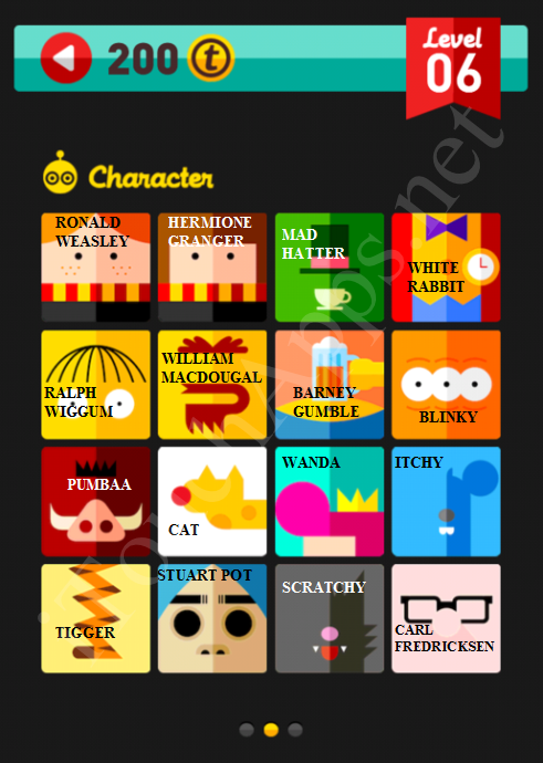 Icon Pop Quiz Character Quiz Level 6 Part 2 Answers / Solutions