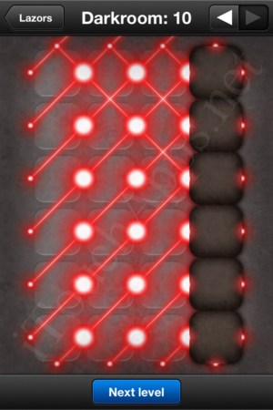 Lazors Darkroom 10 Solution