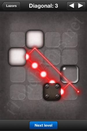 Lazors Diagonal 3 Solution