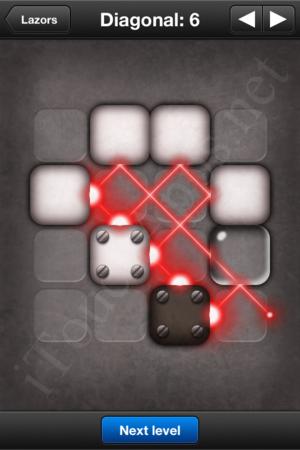 Lazors Diagonal 6 Solution