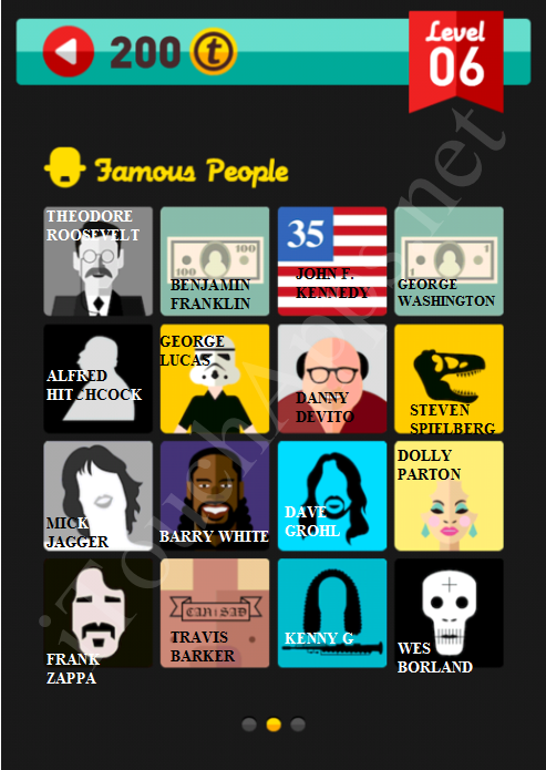 Icon Pop Quiz Game Famous People Quiz Level 6 Part 2 Answers / Solutions