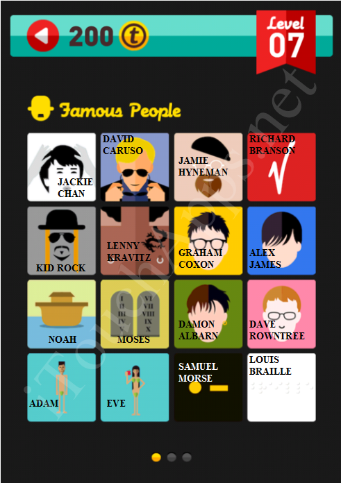 Icon Pop Quiz Game Famous People Quiz Level 7 Part 1 Answers / Solutions