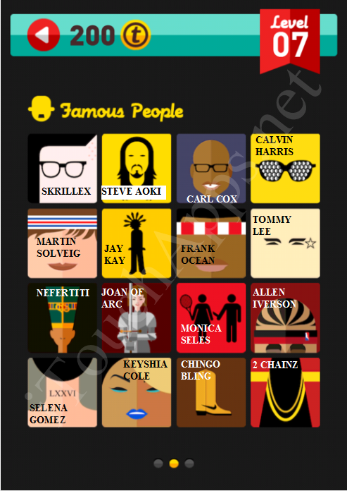 Icon Pop Quiz Game Famous People Quiz Level 7 Part 2 Answers / Solutions