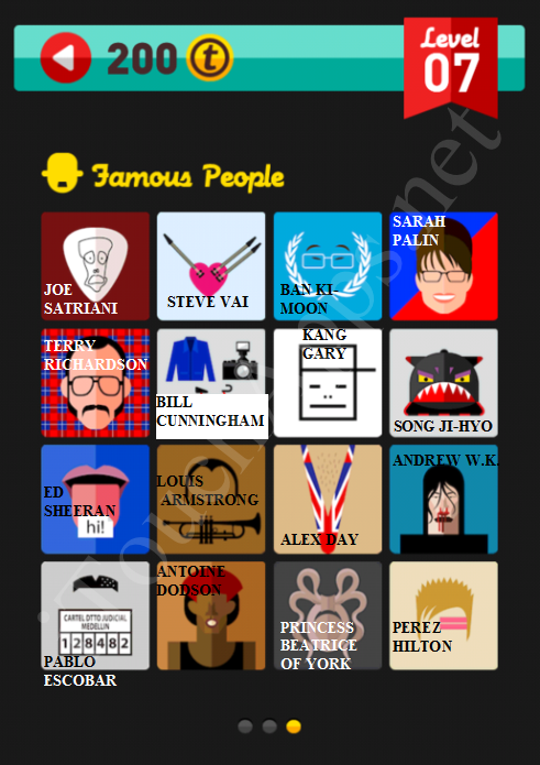 Icon Pop Quiz Game Famous People Quiz Level 7 Part 3 Answers / Solutions