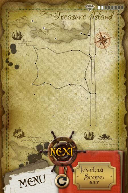 Pictorial Solution: 10 Level Treasure Island
